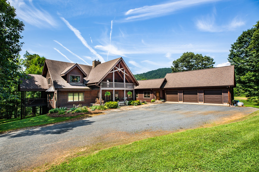 Beautiful 3 BR/3.5 BA Custom Built Log Home w/Guest Cottage & 4 Stall Barn on 18.7 +/- Acres in Madison County, VA