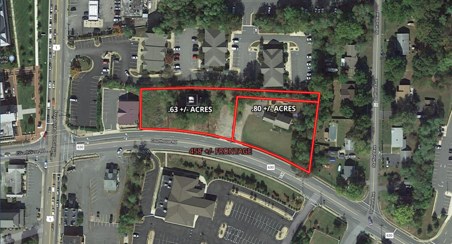 Featured Image for 2 Commercial Stafford County Courthouse Corridor Parcels Totaling 1.43 +/- Acres w/Buildings on Each Parcel