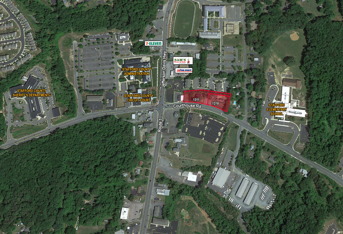 2 Commercial Stafford County Courthouse Corridor Parcels Totaling 1.43 +/- Acres w/Buildings on Each Parcel