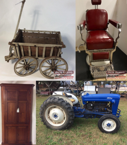 1966 Ford Mustang Convertible, Farm Machinery, Antiques, Implements, Home Furnishings and Much More