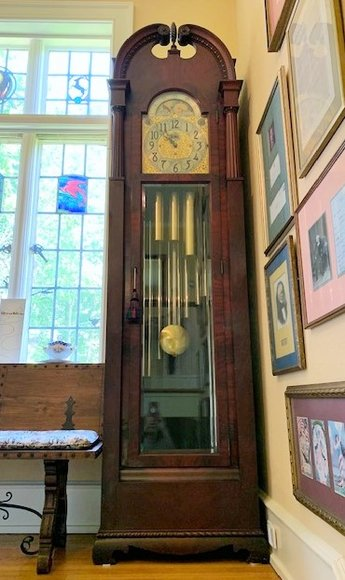 Alderfer Online - Doylestown, PA: 8-6-19 | Featuring Bailey Banks & Biddle Tall Case Clock, Chippendale Style Dining Chairs, Signed Sculptures, Decorative Accessories, Artwork, Outdoor Furniture, Weber Grill & More