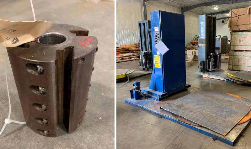 Surplus Moulders, Belt Sanders, Wrapping Units and More From a Major Woodworking Company