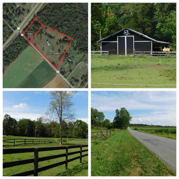 9.5 +/- Acres w/Barn, Well & 4 BR Perk Site in Gordonsville, VA--ONLINE ONLY BIDDING!!
