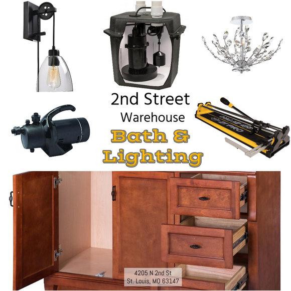 2nd Street Warehouse - Bath and Lighting