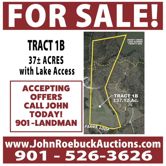 36± Acres of Farm Land & More for Sale - Tract 1B on Winwood Farms Loop, Middleton, TN