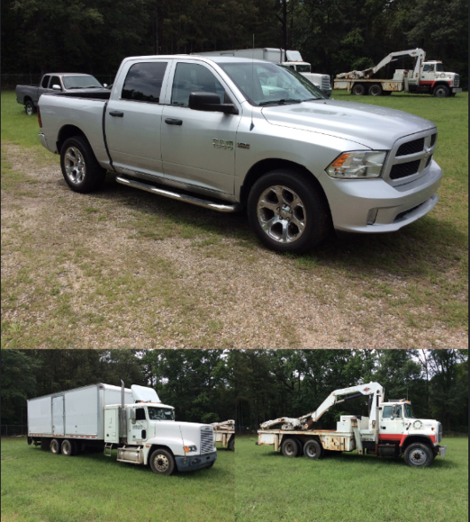 Bankruptcy Auction Vehicles, Tire Repair Equipment and Tools