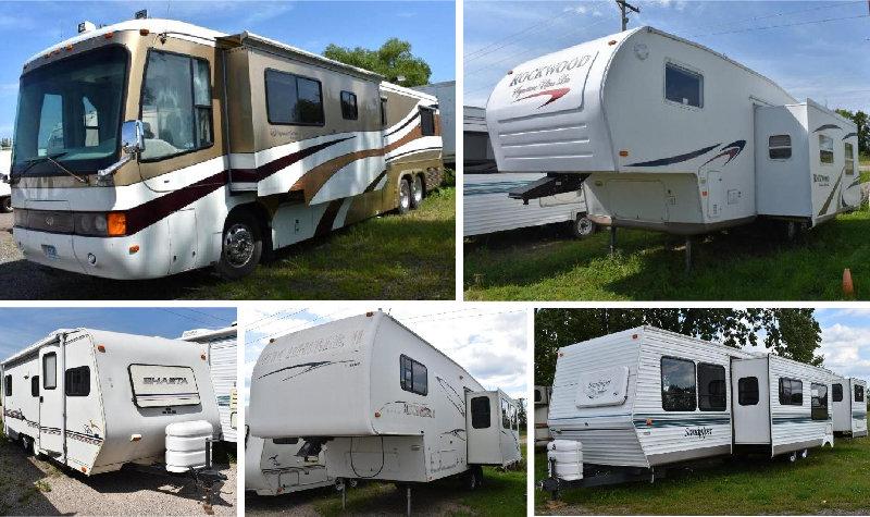 (18) Units: Motorhomes, Travel Trailers & 5th Wheels