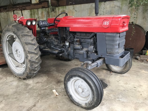 Saw Mill Equipment, Massey Ferguson Tractor, John Deere Forklift, and Tools