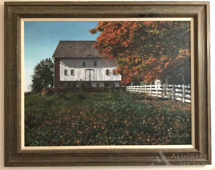 Alderfer Online - Yardley, PA: 10-14-19   Features Fine Furniture, Art & Home Furnishings Including Howard Szmolko Trestle Dining Table, Outdoor Street Clock, Figural Fountain, Queen Anne Sideboard, Oil Paintings, Persian Rugs & More
