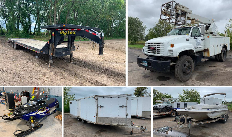 Utility Contractor Trucks & Trailers, Toterhome With Race Trailer, Tools & Sporting Equipment
