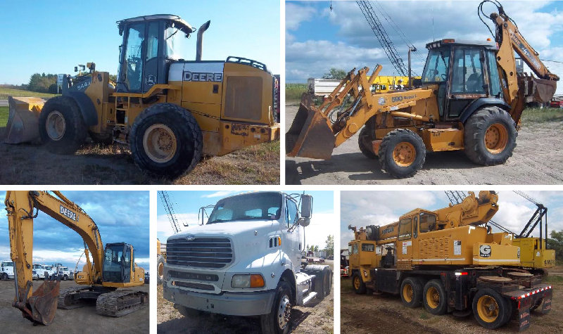 Construction Equipment, Trucks and Farm Equipment
