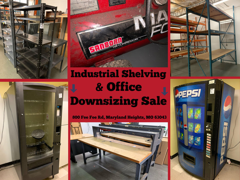 Industrial Shelving & Office Downsizing Sale