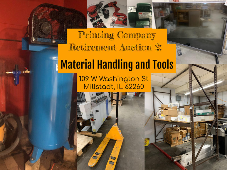 Printing Company Retirement Auction 2: Material Handling and Tools