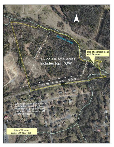 22.33+/- ACRES IN MONROE, SELLING REGARDLESS OF PRICE In Excess Of The Current Tax Value Of $87,500.00