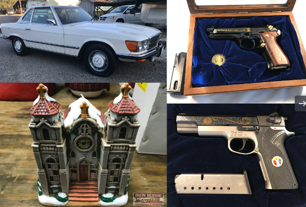 Collector Cars, Collector Firearms, Collector Knives, Coins, Christmas Store Inventory, Department 56 Villages and More!