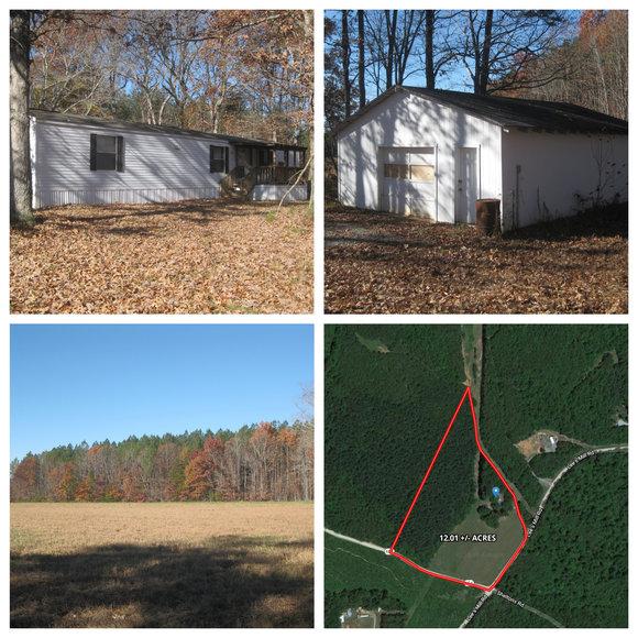 3 BR/2 BA Manufactured Home on 12 +/- Acres in Lunenburg County, VA--ONLINE ONLY BIDDING!!