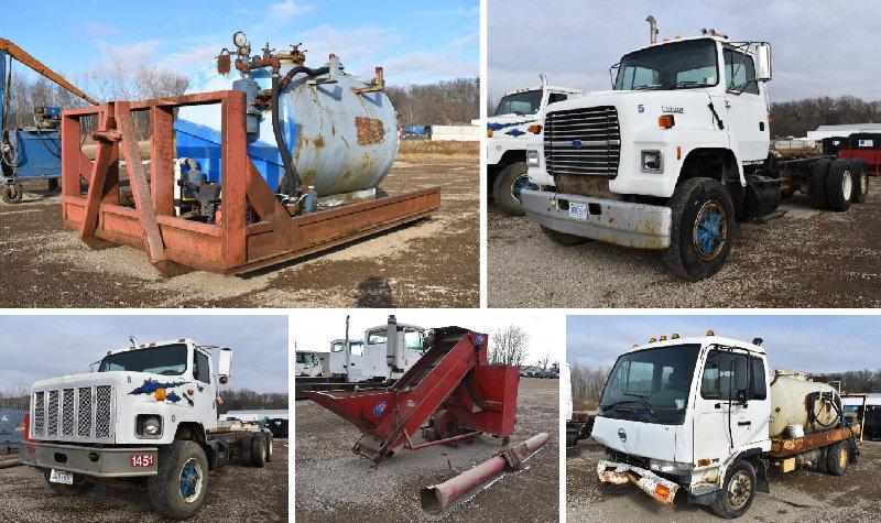 TKI Surplus Recycling Equipment, Trucks & Roll Off Dumpsters