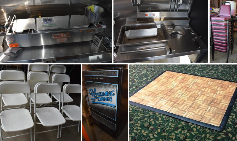 Banquet Chairs, Dance Floor, Donut & Pop Machine