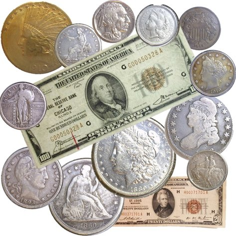 Short Notice Currency, Gold & Silver Coins