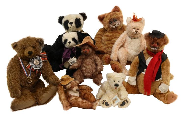 Alderfer Online - Antique & Artists Bears & Other Animals Auction: 1-6-20