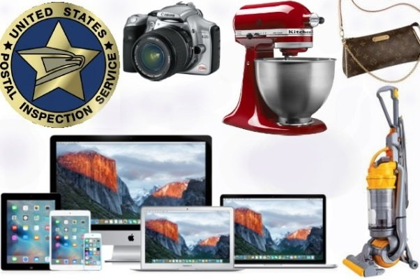 US Postal Inspector's Office - Seized Consumer Goods