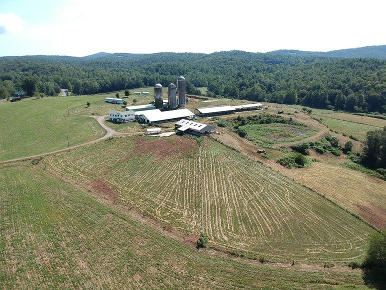 128 Acre Farm near Ferrum Former Dairy offered in 2 Tracts