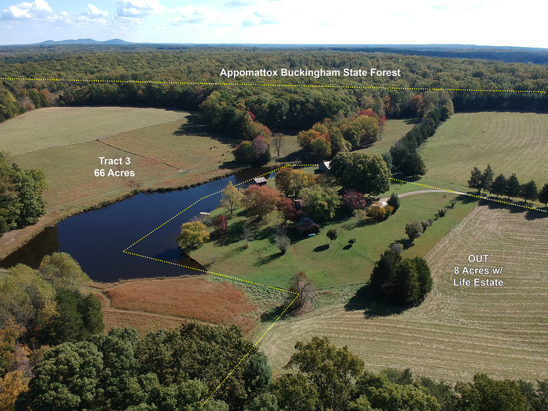 123 Acre Farm with 5BR Home & Pond Offered in 3 Tracts and as a Whole