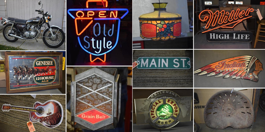 Lifelong Collection of Signs, Neon Lights, Shop Supplies, Hardware, and More Phase 4