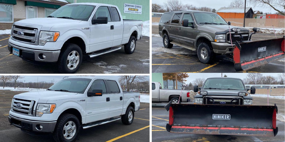 2014 Ford F-150 XLT, 2012 Ford F-150 XLT, & 2004 Ford Excursion Limited 4WD