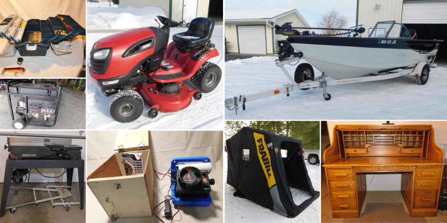 Moving Auction: 2004 Starcraft Boat, Shop Equipment, Lawn & Garden, Sporting Goods and Household
