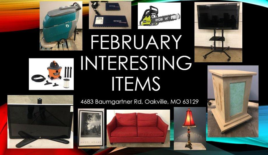 February Interesting Items