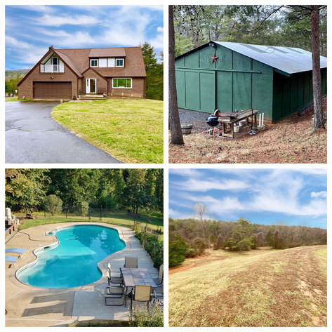 Immaculate 4 BR/3.5 BA Home w/Large Barn/Shop & Pond on 10 +/- Acres--Fauquier County, VA  ONLINE ONLY BIDDING!!