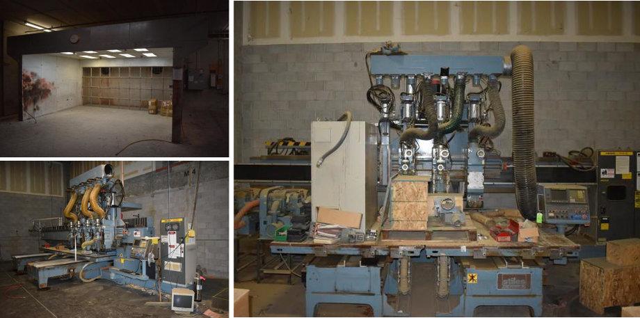 1995 Heian ZR-442P CNC, 1992 Heian NC-432P CNC, and Paint Booth