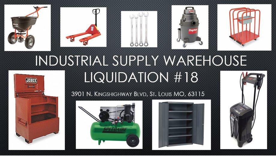 Industrial Supply Warehouse Liquidation #18