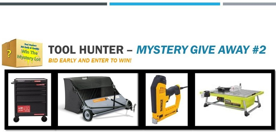 Tool Hunter 5 - Mystery Lot Give-A-Way