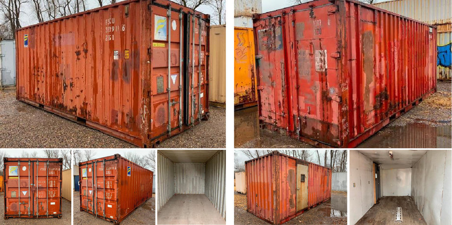 (2) 20' Sea Containers