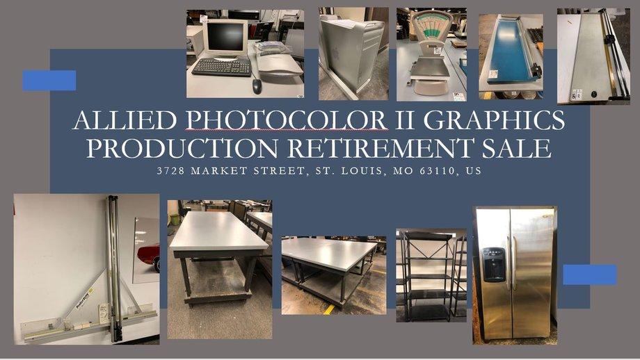 Allied Photocolor II Graphics Production Retirement Sale
