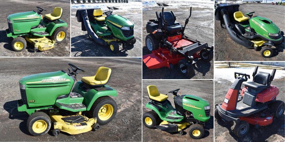 (5) John Deere Riding Lawn Mowers, Gravely & Simplicity Zero Turn