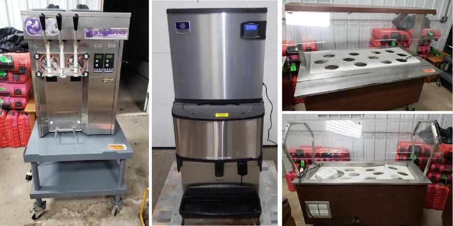 Stoelting Soft Serve Ice Cream Machine,(2) 2014 Monitowoc Countertop Ice Machines, (2) Buffet Carts - POSTPONED!