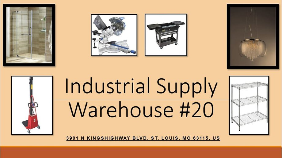 Industrial Supply Warehouse Liquidation #20 - Now Offering Late Pick Up and Shipping