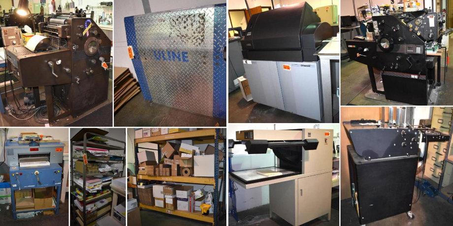 Print Shop Retirement Auction