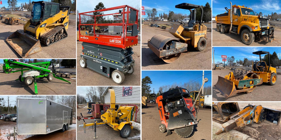 Rental Shop Discontinuing Business, Surplus Excavating Equipment, Fish House, and Horse Equipment