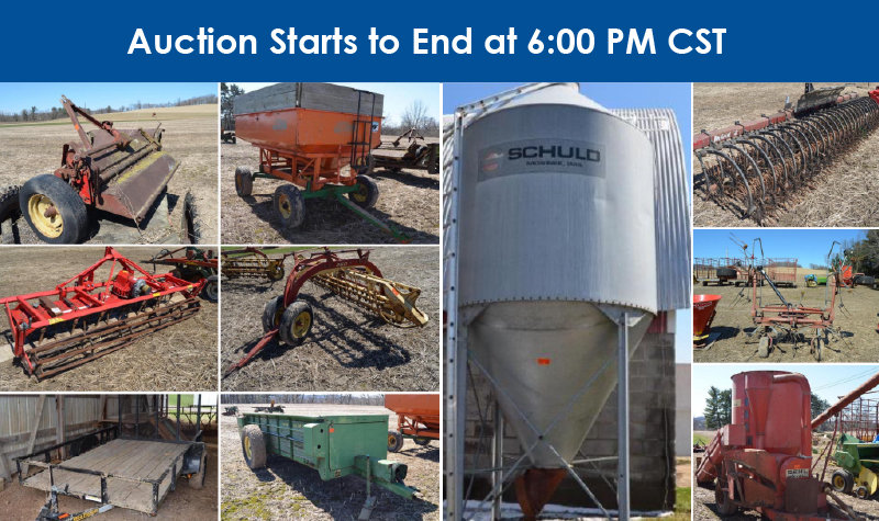 Dennis & Beverly Weiss Auction: John Deere Tractors, Machinery, Dairy Equipment, Lawn & Garden and More
