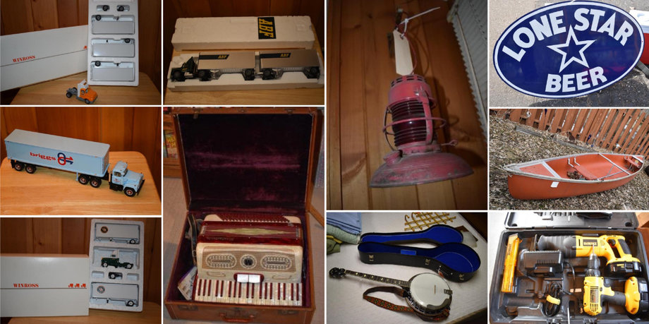 Estate Auction: Cribbage Boards, Toys, Tools, Household