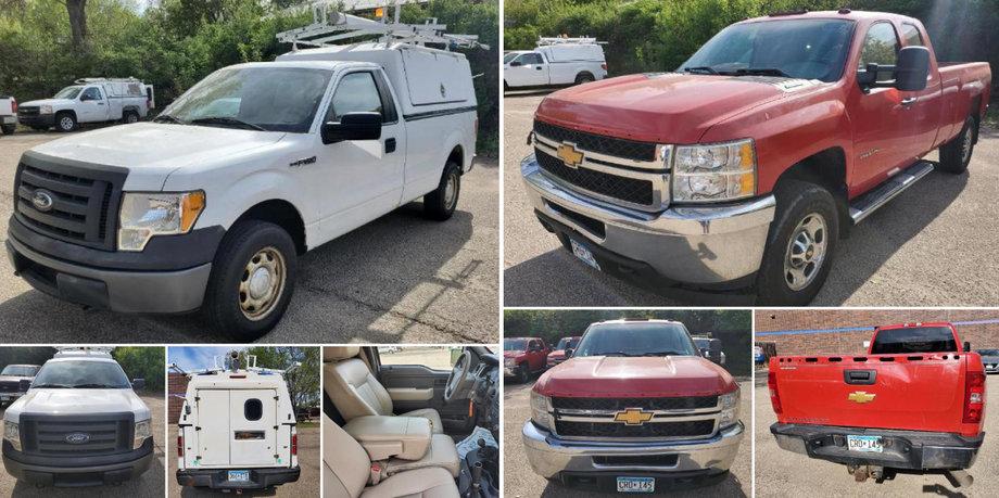 (2) 2012 Chevrolet 2500, 2010 Ford F-150 XL 4X4, 2006 Chevrolet 2500 & 2009 Chevrolet Silverado 1500