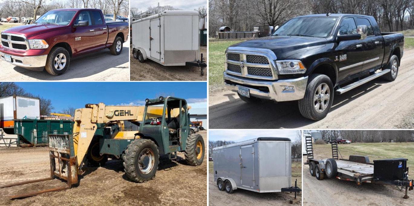 General Contractor Complete Liquidation: Trucks, Trailers, Telehandlers & Manlift