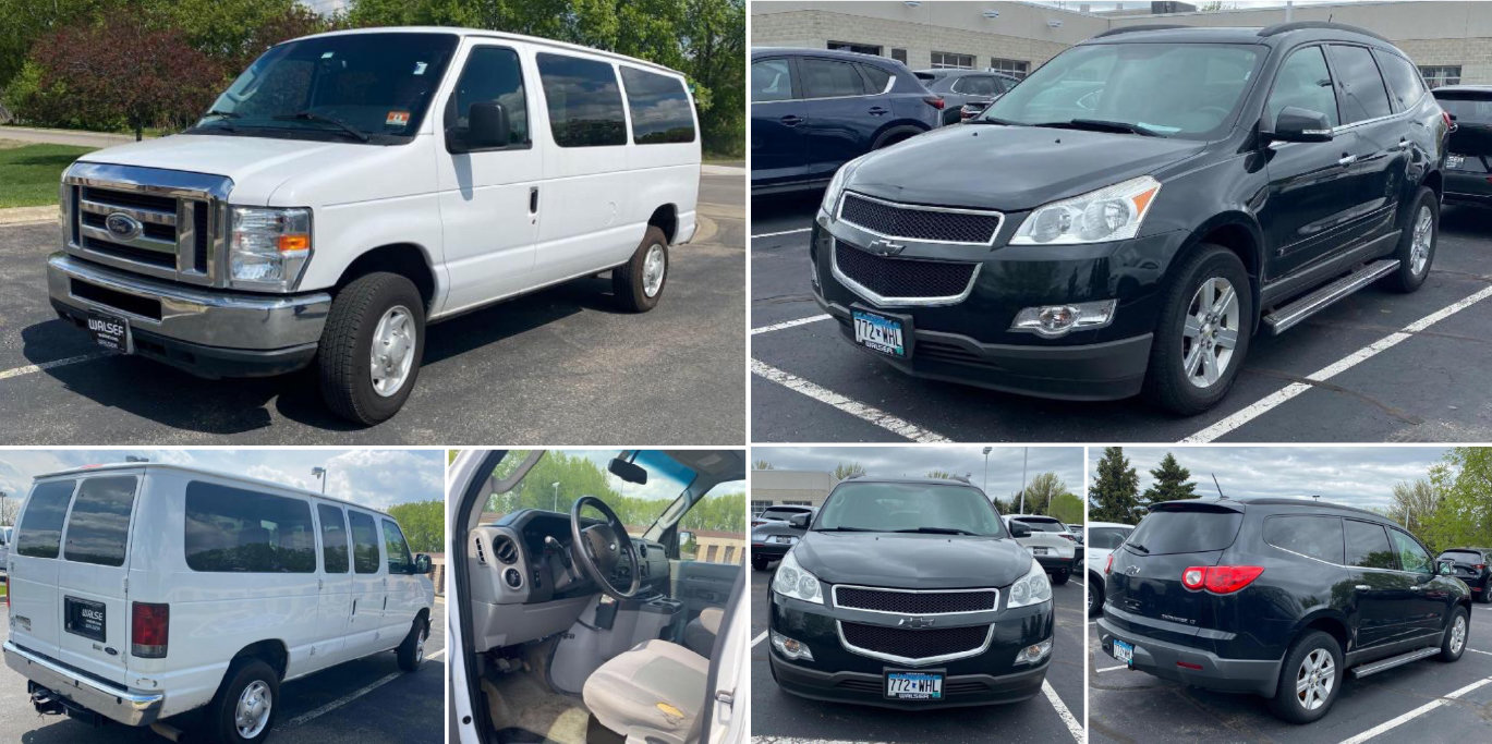 2013 Ford E-350 Window Van, 2010 Chevrolet Traverse LT & 2008 Mazda 6
