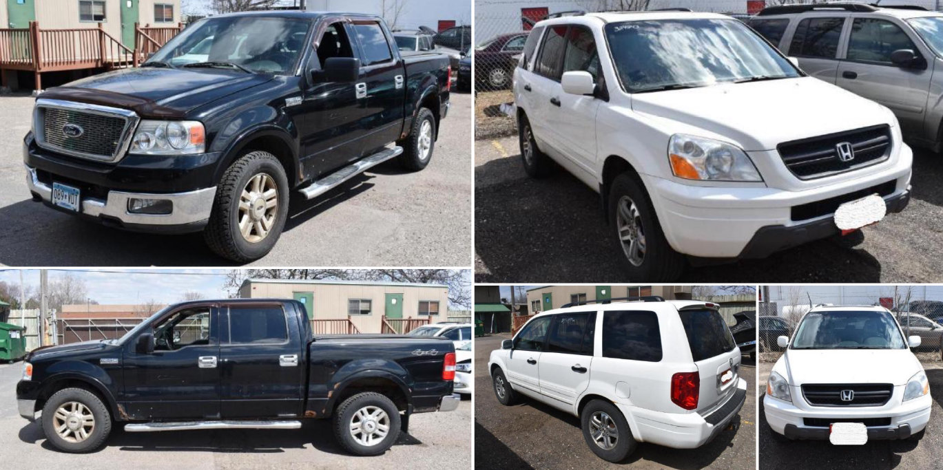 Twin Cities Area Bank Repo Vehicles **Open to the Public and Dealers**