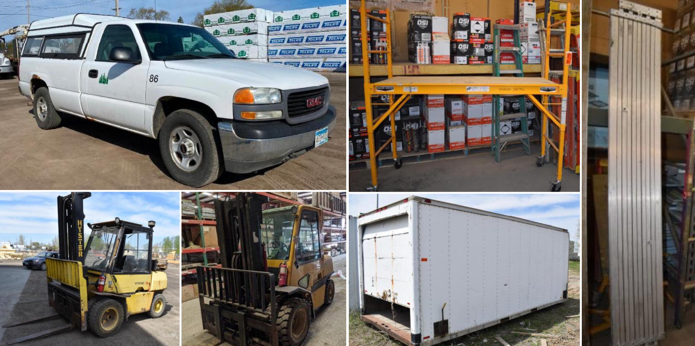 Lumber Yard Inventory Reduction: Trucks, Forklifts, Scaffolding, Planks