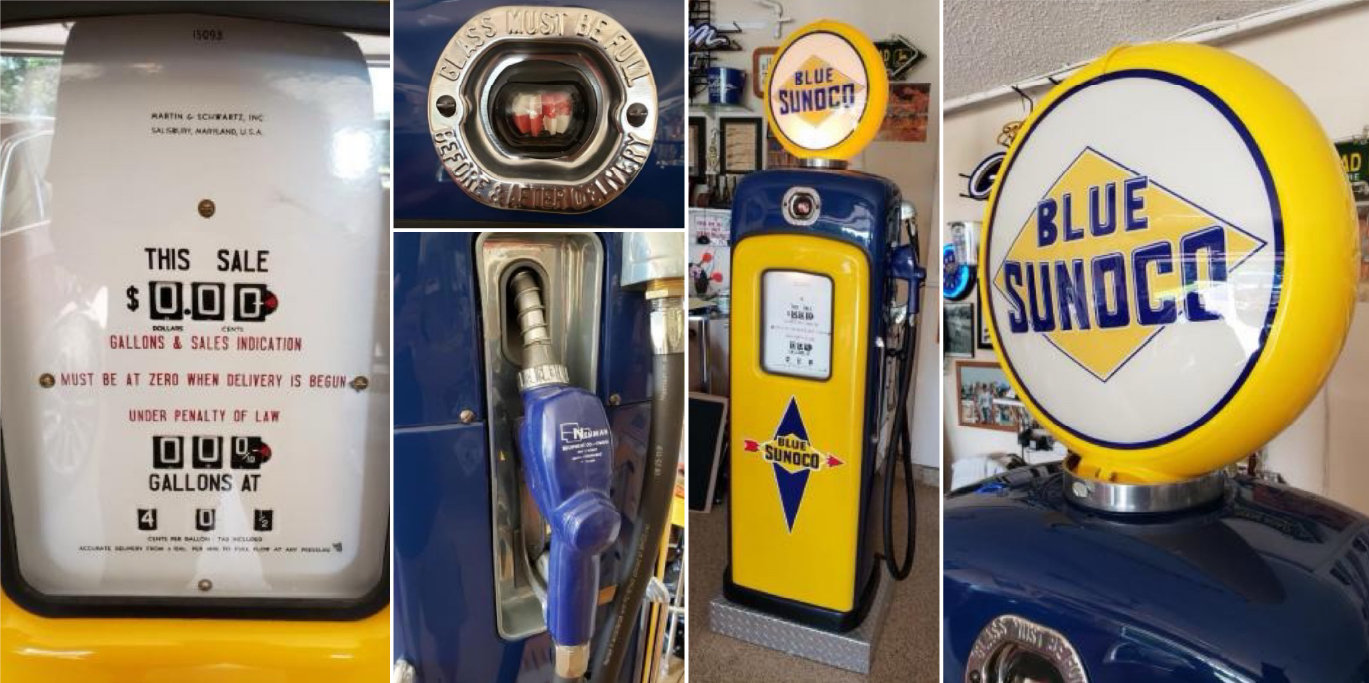 Wayne Gas Pump Model: Martin Schwarts 80 & Beaver Candy Machine